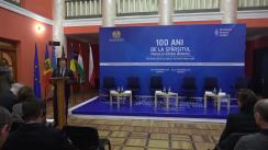 """Conferința Internațională """"100 ani de la sfârșitul Primului Război Mondial"""", organizată de Ministerul Apărării, în comun cu Centrul de Cultură și Istorie Militară și Fundația Hanns Seidel în Republica Moldova"""