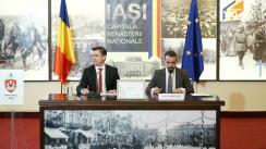 Conferință de presa susținută de primarul Municipiului Iași, Mihai Chirica