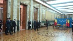 Ceremonia de semnare a unor documente/acorduri bilaterale între România și Republica Moldova