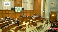 Ședința comună solemnă a Camerei Deputaților și Senatului consacrată celibrării Centenarului Marii Uniri