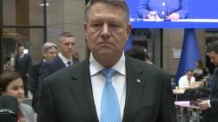 Declarația de presă susținută de Președintele României, Klaus Iohannis, la finalul participării la reuniunea extraordinară a Consiliului European
