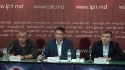 """Conferința de presă susținută de Vitalie Șalari, primarul comunei Băcioi, cu tema """"Blocarea proiectelor sociale și hărțuirea APL Băcioi, prin fabricarea dosarelor penale pe criterii politice"""""""