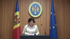 Declarațiile Silviei Radu după ședința Guvernului Republicii Moldova din 28 noiembrie 2018