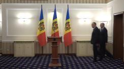 Președintele Republicii Moldova, Igor Dodon, are o întrevedere cu Prim-ministrul Republicii Moldova, Pavel Filip, și candidatul la funcția de Ministru al Finanțelor, Ion Chicu