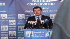 Conferință de presă susținută la sediul Partidului Conservator de către Daniel Constantin