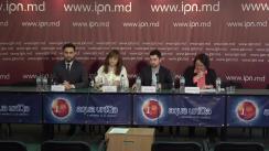 """Conferința de presă cu tema """"Cota de gen: în 2016 votată – în 2019 realizată!? Apel către Partidele Politice"""""""