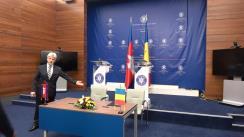 Declarații de presă susținute de ministrul afacerilor externe al României, Teodor Meleșcanu, și viceprim-ministrul și ministrul afacerilor externe și cooperării internaționale al Regatului Cambodgiei, Prak Sokhonn