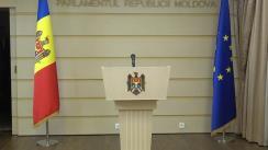Briefing susținut de fracțiunea PSRM înainte de ședința Parlamentului Republicii Moldova din 14 decembrie 2018