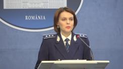 Declarație de presă susținută de purtătorul de cuvânt, comisar-șef de poliție Monica Dajbog, având ca temă măsurile MAI pentru gestionarea efectelor produse de vremea nefavorabilă