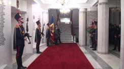 Ceremonia de depunere a florilor cu prilejul aniversării a 28-a de la crearea Poliției Naționale