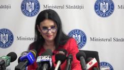Conferința de presă susținută de ministrul Sănătății al României, Sorina Pintea