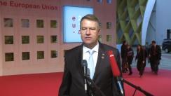 Declarații de presă susținute de Președintele României, Klaus Iohannis, înaintea participării la Forumul la nivel înalt Europa–Africa