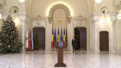 Declarație de presă susținută de Președintele României, Klaus Iohannis, la finalul ședinței Consiliului Suprem de Apărare a Țării
