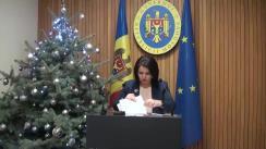 Declarațiile Monicăi Babuc după ședința Guvernului Republicii Moldova din 19 decembrie 2018