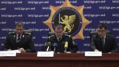 """Conferință de presă cu tema """"Destructurarea unui grup infracțional care a pus în aplicare o schemă infracțională de contrabandă, producere și comercializare a drogurilor sintetice prin aplicații electronice de comunicare"""""""