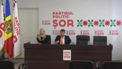 Conferință de presă organizatăde Partidul ȘOR cu participarea liderului formațiunii Ilan Șor, primar al orașului Orhei