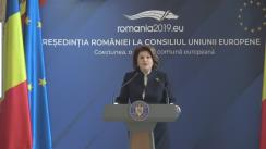 Conferință de presă susținută de ministrul Fondurilor Europene, Rovana Plumb