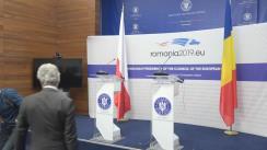 Declarații de presă susținute de ministrul afacerilor externe al României, Teodor Meleșcanu, și ministrul afacerilor externe al Poloniei, Jacek Czaputowicz