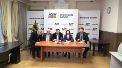 """Conferința de presă susținută de liderii blocului ACUM, Maia Sandu și Andrei Năstase, membri ai PAS și Platformei DA, precum și reprezentanți ai societății civile, cu titlul """"Semnează ACUM!"""""""