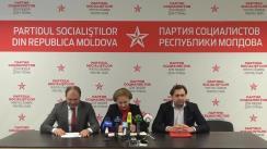 """Conferință de presă susținută de către Partidul Socialiștilor din Republica Moldova cu tema """"Despre începutul campaniei electorale"""""""