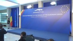 Întâmpinarea președintelui Comisiei Europene, Jean Claude Juncker, de către prim-ministrul României, Viorica Dăncilă
