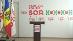 """Conferință de presă susținută de liderul Partidului Politic """"ȘOR"""", Ilan ȘOR"""