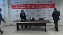 Conferința de presă susținută de către Partidul Socialiștilor din Republica Moldova