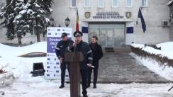 Evenimentul de repartizare a 39 de automobile, 25 de model Dacia Duster, destinate grupelor operative și 14 Ford Tranzit pentru transportarea persoanelor care se află în custodia Poliției din cadrul unităților teritoriale