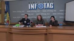 """Conferință de presă susținută de avocații Angela Istrati și Andrian Cojocaru cu tema """"Detalii cu privire la desfășurarea dosarului penal împotriva lui Gheorghe Petic"""""""