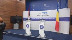 Declarații de presă susținute de ministrul afacerilor externe al României, Teodor Meleșcanu, și ministrul afacerilor externe și expatriaților din Regatul Hașemit al Iordaniei, Ayman Safadi