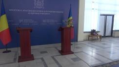 Conferință de presă susținută de Ministrul Afacerilor Externe și Integrării Europene al Republicii Moldova, Tudor Ulianovschi, și Ministrul Afacerilor Externe al României, Teodor Meleșcanu