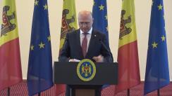 Prezentarea raportului pentru 3 ani de activitate a Guvernului Republicii Moldova