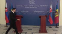 Declarații de presă susținute de Ministrului Afacerilor Externe și Integrării Europene al Republicii Moldova, Tudor Ulianovschi, și Președintele în exercițiu al OSCE, Miroslav Lajčák