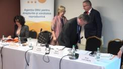 """Evenimentul de semnare a Memorandumului de colaborare între MSMPS, UNFPA Moldova, Biroul Național de Statistică și Institutul Interdisciplinar de Demografie din Olanda privind desfășurarea Studiului """"Generații și Gen"""""""