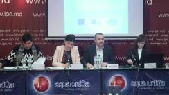 """Conferința de presă organizată de Fundația Est-Europeană, Centrul Parteneriat pentru Dezvoltare și Consiliul Național al Tineretului din Moldova cu tema """"Cât de Incluzive sunt Alegerile din 2019?! Primul Raport de Monitorizare!"""""""