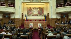 """Sesiunea de comunicări științifice """"Unirea Principatelor Române, bază a Statului Român modern"""" cu participarea Președintelui României, Klaus Iohannis"""