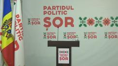 """Conferință de presă susținută de liderul Partidul Politic """"ȘOR"""", Ilan Șor"""