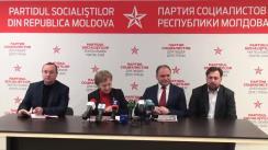 """Conferința de presă susținută de conducerea PSRM cu tema """"Despre situația actuală și evoluția campaniei electorale"""""""