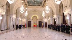 Ceremonia de decorare de către Președintele României, Klaus Iohannis, a unor supraviețuitori ai Holocaustului