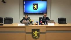 Briefing de presă organizat de Inspectoratul General al Poliției cu privire la cazul de tâlhărie din raionul Drochia