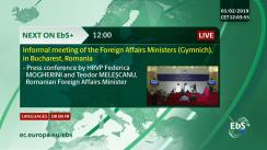Conferință de presă susținută de Înaltul Reprezentant al Uniunii Europene pentru Afaceri Externe și Politica de Securitate, vicepreședinte al Comisiei Europene, Federica Mogherini, și ministrul afacerilor externe al României, Teodor Meleșcanu