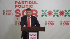"""Conferință de presă susținută de Președintele Partidului Politic """"ȘOR"""", Ilan Șor"""