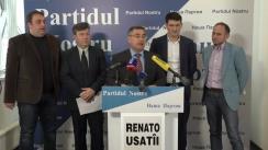 """Conferință de presă cu tema """"De ce patru membri ai """"Partidului Nostru"""" nu au fost înregistrați în calitate de candidați la funcția de deputat în circumscripțiile uninominale"""""""