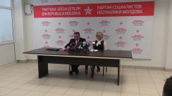 Conferință de presă susținută de Partidul Socialiștilor din Republica Moldova