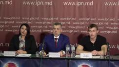 Conferință de presă organizată de Partidul Regiunilor din Moldova