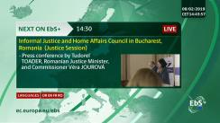 Conferință de presă comună susținută de comisarul european pentru justiție, protecția consumatorului și egalitate de gen, Věra Jourová și ministrul de justiție, Tudorel Toader
