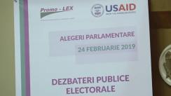 Dezbateri publice electorale organizate de Asociația Promo-LEX cu participarea candidaților la funcția de deputat, înregistrați în circumscripția uninominală nr. 16 Ungheni