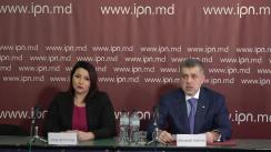"""Conferința de presă organizată de Partidul Regiunilor din Moldova cu tema """"PSRM - partid unionist? După alegeri Igor Dodon pregătește revolte sociale"""""""