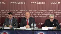 """Conferința de presă cu tema """"Cine a participat la eliberarea cetățenilor moldoveni din captivitatea afgană. Este imoral și incorect a se folosi operațiunea internațională de salvare a moldovenilor din captivitate, în calitate de PR și în scopuri politice"""""""