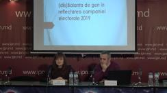 """Conferința de presă organizată de Centrul Parteneriat pentru Dezvoltare cu tema """"Cum mass-media reflectă femeile și bărbații în campania electorală?!"""""""